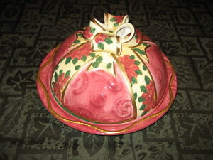 Ceramic Cheese Platter with Dome