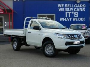 2016 Mitsubishi Triton MQ MY17 GLX 4x2 White 6 Speed Manual Cab Chassis Welshpool Canning Area Preview