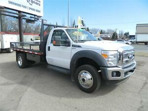 2012 FORD F450 4X4 FLAT DECK /61 000 kms