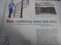 Arke Klan Spiral metal and beech Staircase 1200mm diameter