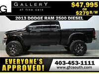 2013 RAM 2500 DIESEL LIFTED *EVERYONE APPROVED* $0 DOWN $279/BW!
