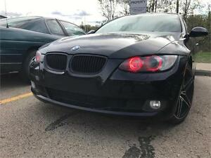 2009 BMW 328i xDrive AWD 2 DOOR 6 SPEED RED LEATHER $149 B/W