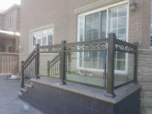 ALUMINUM RAILINGS AND RAILINGS