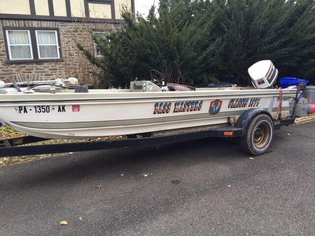 1974 Ranger 16' Bass Boat & Trailer - Pennsylvania