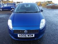 FIAT GRANDE PUNTO 1.2 HATCHBACK 06 REG,, CHEAP TO RUN AND INSURE,, MOT JULY 2018