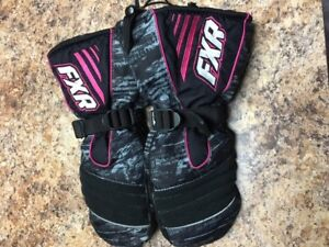 Youth size FXR snowmobile mitts
