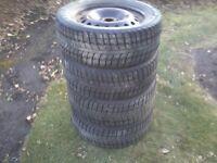4 winter tires on rims 120.00 each or best offer
