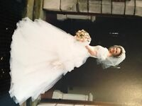 Retro 1994 Ronald Joyce wedding dress.