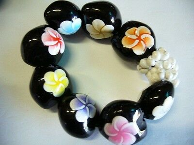 Hawaii Wedding / Graduation Kukui Nut Luau Hula Jewelry Bracelet~#24128 (QTY 2)