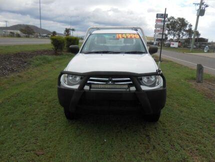 2012 Mitsubishi Triton MN GLX White 5 Speed Manual Trayback Garbutt Townsville City Preview