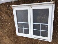 White Double Opening UPVC White Window