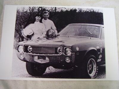 1969 AMC AMX  BREEDLOVE RACE CAR  11 X 17  PHOTO  PICTURE