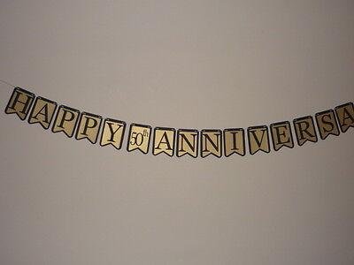Banner 50th Wedding Anniversary Banner decoration (506B) ()