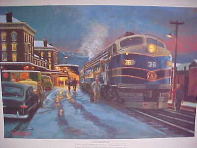Railroad Art, Winfield, B&O A Cumberland Christmas, 18X24
