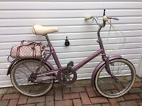 1980's Girls Raleigh Saffron Bike