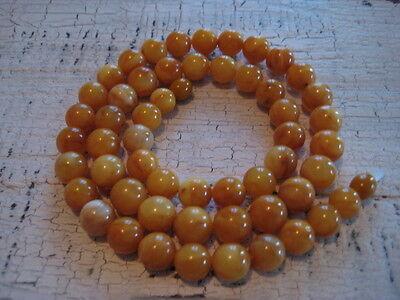 Bernsteinkette Baltic Amber Necklace Butterscotch Beads Balls Rosary
