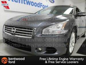 2009 Nissan Maxima SV with a sunroof and heated power leather se