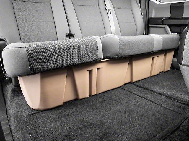 DUHA Under Seat Storage For F150 Ford CrewCab 2015-2018 Black Rear 20110