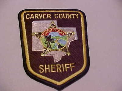 CARVER COUNTY MINNESOTA POLICE PATCH SHOULDER SIZE UNUSED