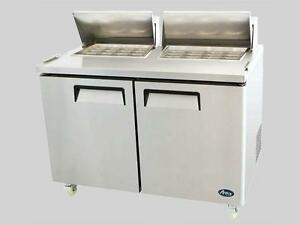 5' Refrigerated Prep Table - brand new
