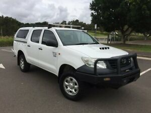 2011 Toyota Hilux KUN26R MY12 Workmate (4x4) White 4 Speed Automatic Dual Cab Pick-up Homebush West Strathfield Area Preview