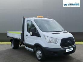 2015 Ford Transit 2.2 TDCi 125ps Single Cab Chassis TIPPER Diesel white Manual