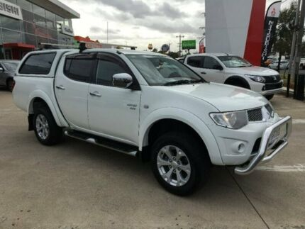2011 Mitsubishi Triton MN MY11 GLX-R Double Cab White 5 Speed Sports Automatic Utility Hoppers Crossing Wyndham Area Preview