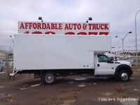 2013 Ford SUPER DUTY F-550  4WD  16FT CUBE VAN BOX TRUCK DIES