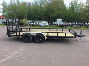 "NEW 2018 PJ 83"" x 16' READY-RAIL LANDSCAPE TRAILER"