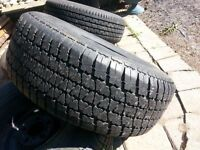 2 CHEVY TRUCK RIMS AND TIRES- 5 ON 5 BOLT PATTERN