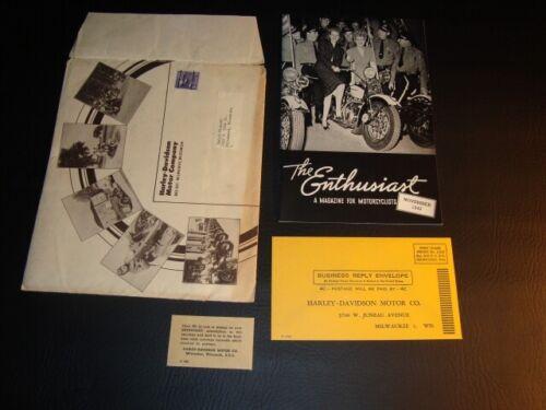 Circa 1942 Harley Davidson Enthusiast Magazine & More, Milwaukee, Wisconsin