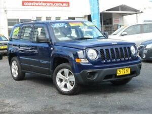 2012 Jeep Patriot MK MY12 Sport (4x2) Blue 6 Speed CVT Auto Sequential Wagon Tuggerah Wyong Area Preview