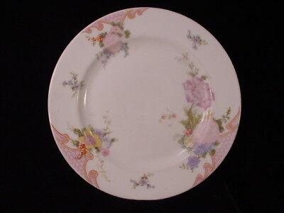 Antique Czechoslovakia Eping Bridal Rose China Salad Plate ~ Pink Flower Bridal Rose Salad Plate