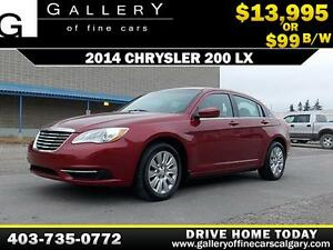 2014 Chrysler 200 LX $99 bi-weekly APPLY NOW DRIVE NOW