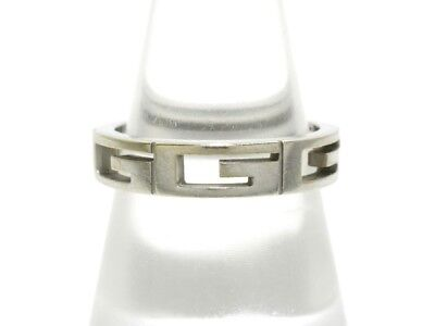 Auth GUCCI 18K White Gold Ring US #6 1/2