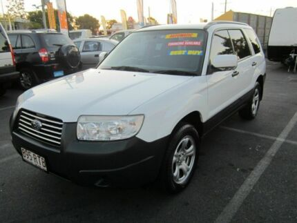 2007 Subaru Forester MY07 X White 4 Speed Automatic Wagon Capalaba Brisbane South East Preview