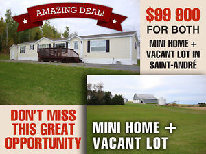 BEAUTIFUL 2BRM MINI HOME + VACANT LOT