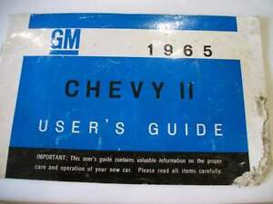 3 Chevrolet 1965 1967 Camaro Acadian Chevy II Owners manuals Stratford Kitchener Area image 4