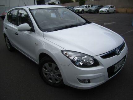 2011 Hyundai i30 FD MY11 SX Cream White 4 Speed Automatic Hatchback St Marys Mitcham Area Preview