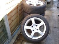 Fox Alloy Wheels And Tyres x 4