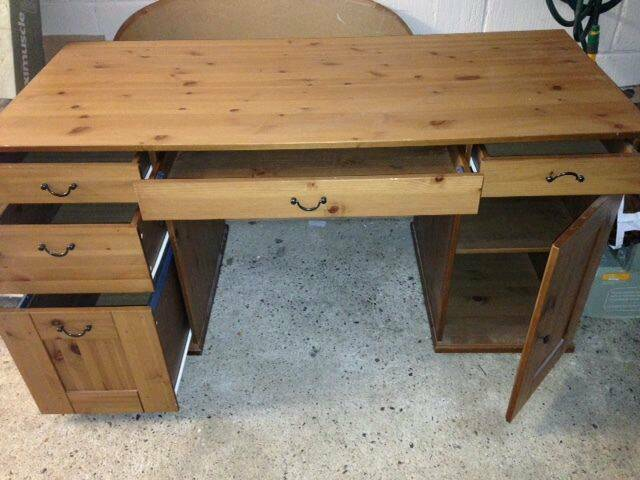 ikea alve humnes leksvik large desk in norbury london gumtree. Black Bedroom Furniture Sets. Home Design Ideas