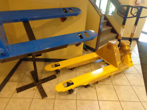 Hand pallet jack with foot pedal ONE Year Warranty ONLY $219
