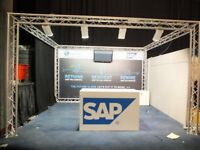 truss trilight exhibtion stand astralite exhibition complete stand 4 Corners 3.3m 2.6m 2.3m