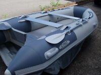 Brand New in the box 3.4m inflatable boat dinghy tender rib air deck v keel, sea lake fishing fun