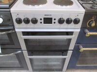 Beko silver modern digital face/solid plates electric cooker/great condition/good working order/very