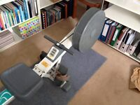Foldable rowing machine, fully functional