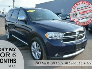 2013 Dodge Durango CREW PLUS, AWD, LEATHER