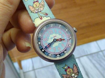 2000 Flik Flak Swiss Made Swatch Watch FAIRY Rhinestone Children Girl