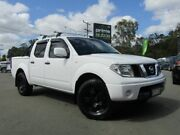 2014 Nissan Navara D40 MY13 RX (4x4) White 5 Speed Automatic Dual Cab Pick-up Underwood Logan Area Preview