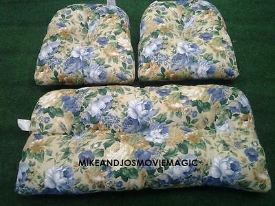 REPLACEMENT CUSHION SET FOR INDOOR/OUTDOOR WICKER FURNITURE (Outdoor Wicker Replacement Cushions)